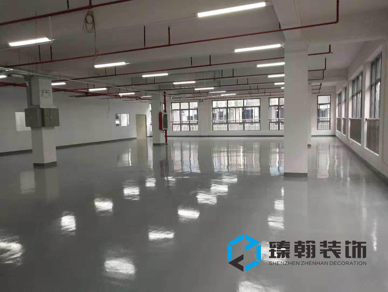 工业厂房装修首先要考虑的是地面部分与洁净