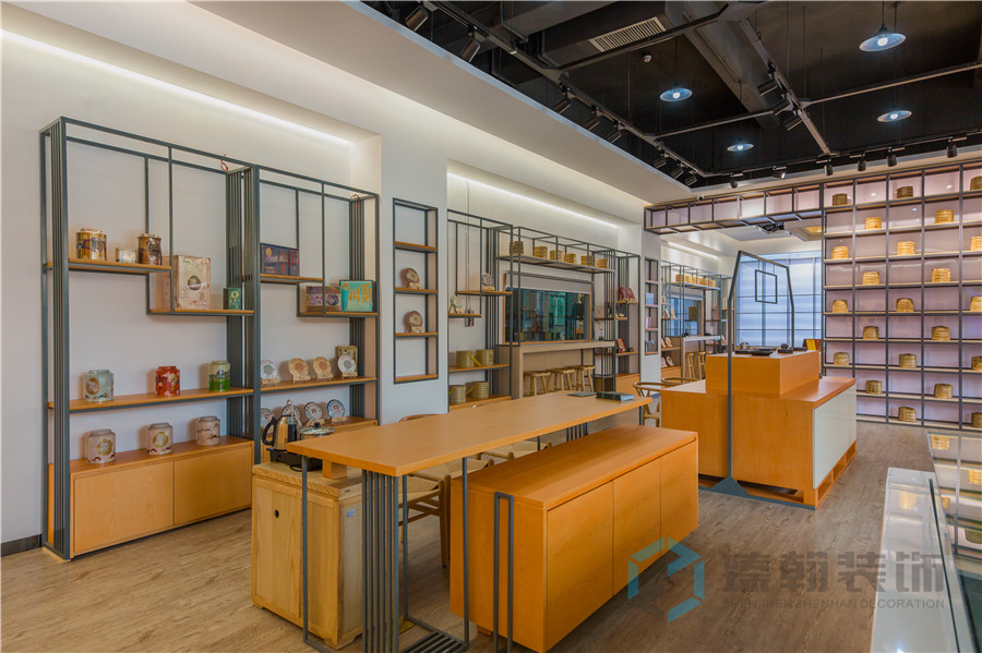 茶室展厅设计装修,有序多维的空间体验