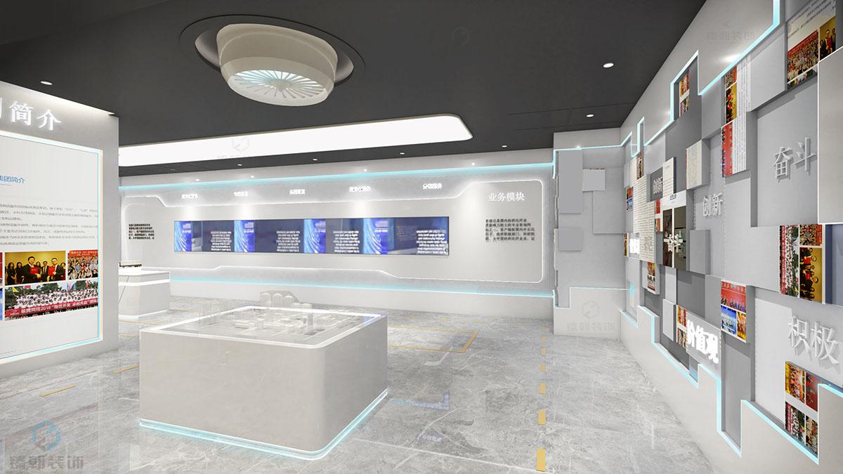 企业文化展厅空间设计装修,企业标志!
