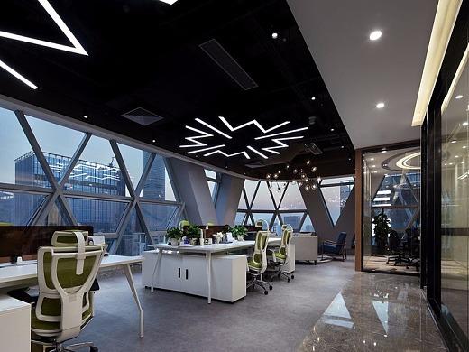 现代轻工业感的办公室装修风格